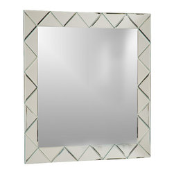 Decor Wonderland Mirrors - Decor Wonderland Luciano Frameless Wall Mirror - The Luciano Frameless Wall Mirror is a modern square frameless mirror featuring an etched design surrounding the mirror to offer a framed mirror look. Hang this frameless wall mirror in any room to add vibrance, light and modern decor to your home. This large mirror measures 31.5 x 23.5.