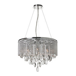 Crystal Palace Chandelier - Dazzling and elegant don't begin to cover the wow factor of this chandelier. The polished chrome outside encircles the angled crystals to create a stunningly contemporary look.