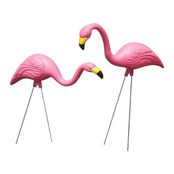 Bloem - Bloem Pink Flamingo G2, 6 pack - 27 inch head up pose, 24 inch head down pose