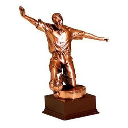 BA - 8 Inch Ancient Dark Copper Color Soccer Player Figurine Statue - This gorgeous 8 Inch Ancient Dark Copper Color Soccer Player Figurine Statue has the finest details and highest quality you will find anywhere! 8 Inch Ancient Dark Copper Color Soccer Player Figurine Statue is truly remarkable.