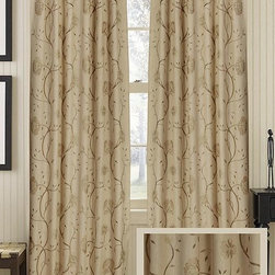Home Decorators Collection - Royalty Sheer Curtain Panel - The beautiful botanicals covering our Royalty Sheer Curtain Panel make this sheer curtain panel visually interesting. And because it's sheer, you can enjoy natural light while still providing coverage for your window. Made of 100% cotton. Sheer curtain allows for light filtration. Hang curtain using rod pocket or back tabs. One panel only.