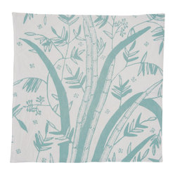 Indochine Friendship Reed Napkin, Set of 2, White/Robins Egg