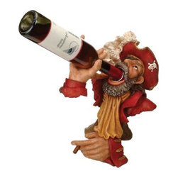 """Red Coat Captain Wine Bottle Holder - The red coat captain wine bottle holder measures 13""""H. It holds one bottle of wine. It will add a definite nautical touch to wherever it is placed and is a must have for those who appreciate high quality nautical decor. It makes a great gift, impressive decoration and will be admired by all those who love the sea."""