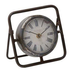 "Benzara - Beautiful Metal Clock with Dark Frame - Beautiful Metal Clock with Dark Frame. Displaying exact time on all occasions and bestowed with a stylish design, this fantastic clock is a perfect addition to your living space. It comes with following dimensions 6""W x 3""D x 6""H."