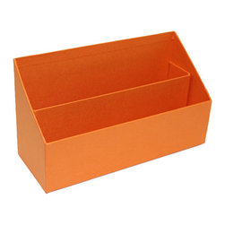 "Bigso Box - Bigso Ragnvald Letter Sorter, Orange - The letter sorter has ample space for letter size envelopes, so store current mail, bills, stationery, notepads, the list goes on for easy access storage. Mix and match with all the Bigso box colorful desk accessories to fit your office organization needs and make a chromatic design statement that is super fabulous. 10""L X 3.9""W X 5.7""H"