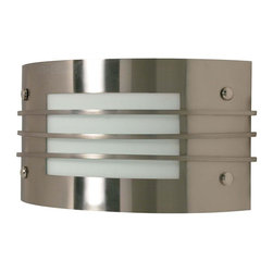 Satco - Satco Energy Efficient Modern / Contemporary Wall Sconce X-639/06 - Clean lines and classic Art Deco influencing give a surprisingly modern look and feel to this Nuvo Lighting wall sconce. This energy efficient light fixture fixture features a soft diffuser that allows the clean tones of the Brushed Nickel finish to shine and stand out, making it a welcome addition to any space.