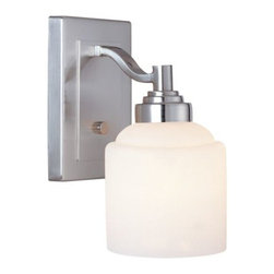 Savoy House - Wilmont Wall Sconce by Savoy House - The Savoy House Wilmont Wall Sconce offers versatile, soft elegance, blending seamlessly into both traditional and contemporary spaces. Available with an Etched Opal White glass shade and a Pewter finish. This wall light is a beautiful choice for a foyer, around a fireplace, or in a bedroom, bathroom or kitchen. Savoy House, headquartered in Braselton, Georgia, celebrates the uniqueness of today's decor styles by designing and manufacturing an extensive selection of high-quality ceiling fans and lighting fixtures for discerning homeowners.