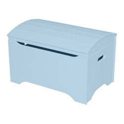 Little Colorado - Little Colorado Solid Wood Toy Storage Chest - Pastel Blue - 053PB - Shop for Childrens Toy Boxes and Storage from Hayneedle.com! Toy robots baseballs and comic books need a home too and they probably wouldn't mind living in the Little Colorado Solid Wood Toy Storage Chest - Pastel Blue No Personalization. With a powder blue finish over a solid hardwood body this classically-styled chest has construction and hardware to last for years. Some assembly is required.Little Colorado is a Green CompanyAll finishes are water-based low-VOC made by Sherwin Williams and other American manufacturers. Wood raw materials come from environmentally responsible suppliers. MDF used is manufactured by Plum Creek and is certified green CARB-compliant and low-formaldehyde. All packing insulation is 100% post-consumer recycled. All shipping cartons are either 100% post-consumer recycled or are made of recycled cardboard.About Little ColoradoBegun in 1987 Little Colorado Inc. creates solid wood hand-crafted children's furniture. It's a family-owned business that takes pride in building products that are classic stylish and an excellent value. All Little Colorado products are proudly made in the U.S.A. with lead-free paints and materials. With a look that's very expensive but a price that is not Little Colorado products bring quality and affordability to your little one's room.