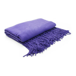 "Pur by Pur Cashmere - Signature Blend Throw Morning Glory 50""x65"" With 6"" Fringe - I can't believe it's not cashmere throw. 100% lyocel Dry clean only. Inner mongolia."