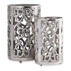 """IMAX CORPORATION - Balin Candle Lanterns - Set of 2 - Balin Candle Lanterns. Set of 2 in various sizes measuring around 13.75""""H x 7.5""""W x 7.5"""" each. Shop home furnishings, decor, and accessories from Posh Urban Furnishings. Beautiful, stylish furniture and decor that will brighten your home instantly. Shop modern, traditional, vintage, and world designs."""