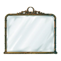 Hickory Manor House - Classical Buffet Mirror in Antique Gold Finis - Vintage original. Custom made by artisans unfortunately no returns allowed. Enhance your decor with this graceful mirror. Made in the USA. Made of pecan shell resin. 37.25 in. W x 32.5 in. H (30 lbs.)