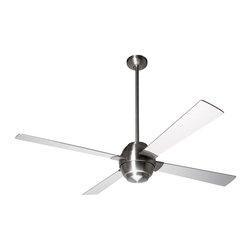 """Modern Fan Company - Modern Fan Company Gusto Bright Nickel 46"""" Ceiling Fan + Wall Control - Features:"""