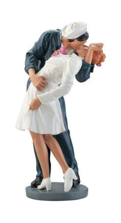 EttansPalace - 12 Inches Tall Emotional Inspired by the Moment Statue: Small - A poignant moment in history inspired by the victory of World War II finds a sailor and American nurse caught in the act of an emotional kiss. Full of the historic nostalgia that epitomizes the American character, this hand painted designer resin sculpture is retro art bringing the joy of victory to life in three dimensions. Small: 5Wx5Dx12H. 3 lbs.