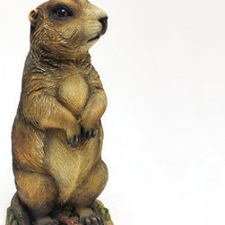EttansPalace - Amazingly Realistic Gopher Garden Statue - When you see this realistic gopher sculpture seemingly come to life in your garden, it might just make you do a double take! Our amazingly detailed exclusive, quality designer resin, animal sculpture is hand-painted one piece at a time. Another quality garden animal statue from! 6Wx5Dx12H. 1 lb.