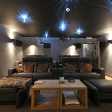 Contemporary Home Theater by Vernacular Homes