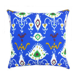 "DD - Tribal Ikat Outdoor Pillow 20"" x 20"" - This lovely Tribal Ikat Outdoor Pillow will add fun and flare to your outdoor space."