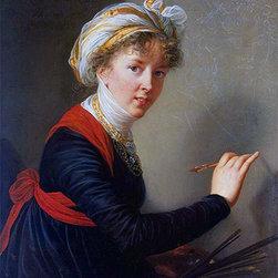 Self-Portrait | Vigee Le Brun | Painting Reproduction - Elisabeth-Louise Vigee Le Brun - Self-Portrait, 1800 - Hand-Painted Oil Painting Reproduction.