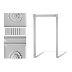 uDecor - DM-8040 Door Set - Set comes with (3) DM-8040, (2) DM-8547, and (2) DM-8554