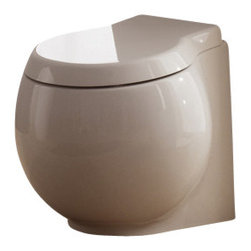 Scarabeo - Contemporary White Ceramic Floor Trap Toilet - White ceramic floor trap toilet for modern bathrooms and classic style bathrooms alike.