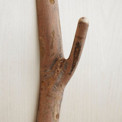 Single Hook #001 - Wall hooks made from natural wood are so simple and such a great idea.