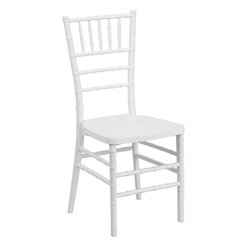 Flash Furniture - Flash Furniture Flash Elegance White Resin Stacking Chiavari Chair - LE-WHITE-GG - If you've been to a wedding, chances are you've sat in a Chiavari chair. Chiavari chairs have become a classic in the event industry and are also highly popular in high profile entertainment events. This chair is used in all types of elegant events due to its lightweight, stacking capabilities and elegant design. Keep your guests comfortable with optional cushions and keep your chairs beautiful with chair covers. [LE-WHITE-GG]
