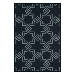 "Loloi Rugs - Loloi Rugs Celine Collection - Black / Grey, 2'-3"" x 7'-6"" - Combining sophisticated tonal colors with geometric patterns, the Celine Collection is a great option for modern interiors. The collection is hand hooked in India of 100% wool, with high pile defining the pattern and adding texture. Available in a variety of sizes to suit any room.�"