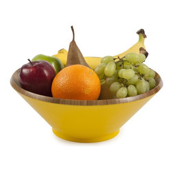 Core Bamboo Astor Bowl - Made from 100% solid bamboo, this colorful bowl is perfect for serving salads, fruits, nuts and snacks. Available in a wide range of vibrant colors, choose one that blends with your home décor or that contrasts for more of a statement piece. Mix and match Core Bamboo's serving bowls for a fun addition to your entertainment collection.