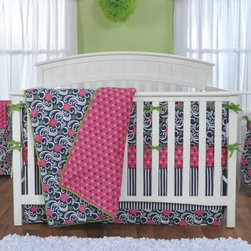 Trend Lab Baby Lucy 3 pc. Crib Bedding Set - Give your little girl's bedroom delicate charm with the Trend Lab Baby Lucy 3 pc. Crib Bedding Set. Featuring a quilt, fitted sheet, and a box pleat skirt, this set features swirling flowers mixed with a charming mini floral and nautical stripe print in navy blue, magenta pink, foliage green, opal gray, and crisp white.About Trend LabFormed in 2001 in Minnesota, Trend Lab is a privately held company proudly owned by women. Rapid growth in the past five years has put Trend Lab products on the shelves of major retailers, and the company continues to develop thoroughly tested, high-quality baby and children's bedding, decor, and other items. Trend Lab continues to inspire and provide its customers with stylish products for little ones. From bedding to cribs and everything in between, Trend Lab is the right choice for your children.