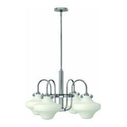 Hinkley Lighting - Hinkley Lighting 3045 Congress 4 Light 1 Tier Chandelier - Four Light Single Tier Chandelier with Etched Opal Shade from the Congress CollectionFeatures: