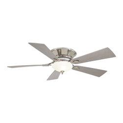 "Minka Aire - Minka Aire F711-PN Delano II Polished Nickel Flush Mount 52"" Modern Ceiling Fan - Features:"