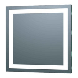 Afina - Afina Illume IL-2424-S LED Backlit Square Bathroom Mirror - 24 x 24 in. Multicol - Shop for Bathroom Mirrors from Hayneedle.com! With its frameless design and bright LED lighting the Afina Illume IL-2424-S LED Backlit Square Bathroom Mirror - 24 x 24 in. adds modern style and practicality to your bath. This backlit bathroom room has a unique square shape and easy on and off button switch. About AfinaAfina Corporation is a manufacturer and importer of fine bath cabinetry lighting fixtures and decorative wall mirrors. Afina products are available in an extensive palette of colors and decorative styles to reflect the trends of a new millennium. Based in Paterson N.J. Afina is committed to providing fine products that will be an integral part of your unique bath environment.