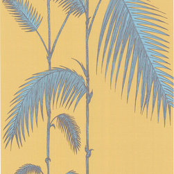 Cole & Son - Cole & Son Palm Leaves Ochre/T Wallpaper (Sample) - Wallpaper CalculatorCole and Son are one of the last remaining producers of hand-flocked wallpaper like this, still using their traditional method, which has not changed in the last 200 years.