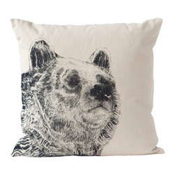 Ortolan - Black Bear Pillow - The spirit of the bear provides strong grounding forces, a symbol of confidence and inner strength.