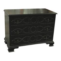 Noir - Noir - Sofie Dresser, Hand Rubbed Black - Hand Rubbed Black Mahogany Wood