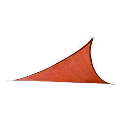 Cool Area - Cool Area Triangle 11 Feet 5 Inches Durable Sun Shade Sail with Stainless Steel, - Cool Area shade sail is a stylish and effective shade solution that fit most outdoor living space. You can creatively design your own little shady area in a courtyard, pool, gardens, childrens' play areas, car spaces, and even entry ways. The heavy duty Polyethylene material will keep you cool and out of the hot sun.