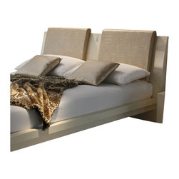 Rossetto - Rossetto Diamond Headboard Pillows in Ivory (Set of 2) - Rossetto - Pillows - T26669M0010DD - Upholstered in crocodile leather effect the Diamond pillows boosts the effect of the headboard.