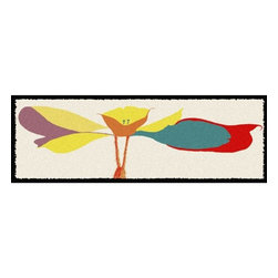 Home Infatuation - Whimsical Flower Outdoor Runner Rug - This indoor/outdoor runner rug is derived from the imaginative series of original art work created by artist David Milliken. Elements from the paintings are extracted to create whimsical, humorous and abstract decorative solutions for both indoors and outside.