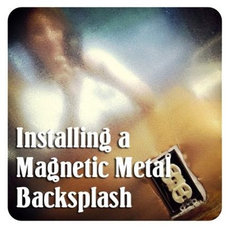Install Your Own Magnetic Metallic Backsplash a #LowesCreator Idea - Paperblog