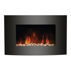 Wall Mount Electric Fireplace, Vertical Convex Series
