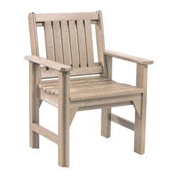 C.R. Plastic Products - C.R. Plastics Dining Arm Chair In Beige - C.R. Plastics Dining Arm Chair In Beige