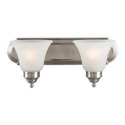 Sea Gull Lighting - Sea Gull Lighting 44236 Linwood 2 Light Bathroom Vanity Light - Features: