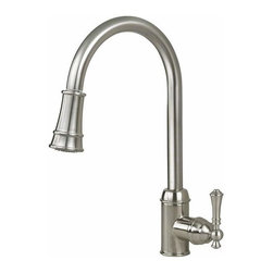 Artisan Manufacturing - Artisan Premium Pull-out Satin Nickel Faucet - AF-410-SN Artisan Manufacturing Premium Pull-out Satin Nickel Kitchen Faucet