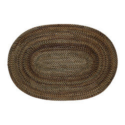 KOUBOO - Oval Nito Placemat, Set of 2 - Hand woven from Nito finished with coating of clear, shiny lacquer