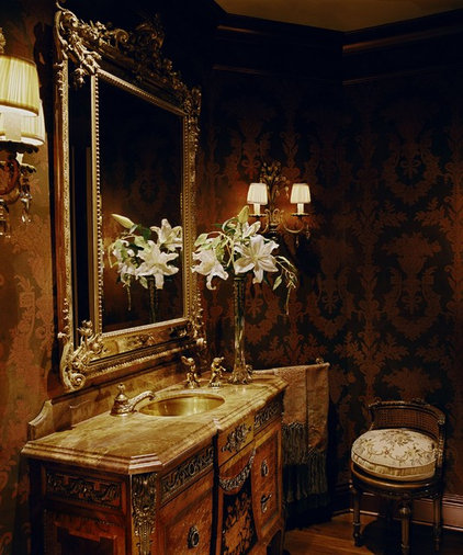 Traditional Powder Room by Just Joh