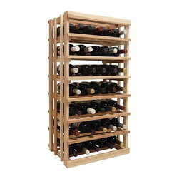 Wine Cellar Innovations - 3 ft. Open Vertical Display Wine Rack (All-Heart Redwood - Light Stain) - Choose Wood Type and Stain: All-Heart Redwood - Light Stain. Bottle capacity: 35. Versatile wine racking. Custom and organized look. Can accommodate just about any ceiling height. Can be used to display five wine bottles left to right or three wine bottles front to back. Wine rack: 18 in. W x 13.5 in. D x 35.94 in. H (17 lbs.). Optional base platform: 18 in. W x 13.38 in. D x 3.81 in. H (5 lbs.). Vintner collection. Made in USA. Warranty. Assembly Instructions. Rack should be attached to a wall to prevent wobble