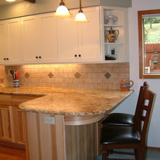 Traditional Kitchen Cabinetry by F&C Custom Cabinets Inc