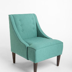 Madeline Chair, Turquoise - The color and shape of this chair just remind me of a Chanel suit in Tiffany blue, sitting down for a martini.