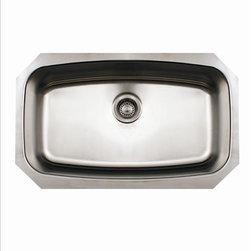 Whitehaus - Whitehaus Whncus2917 Noah's Single Bowl Sink - single bowl undermount sink