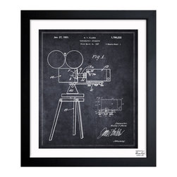 "The Oliver Gal Artist Co. - 'Photographic Apparatus 1931 '  Framed Wall Art 26"" x 32"" - The camera buff in your life will love this vintage drawing of a 1930s era camera. Choose from three sizes perfect for outfitting a home office or den. Each authenticated piece arrives with its hardware ready for hanging."