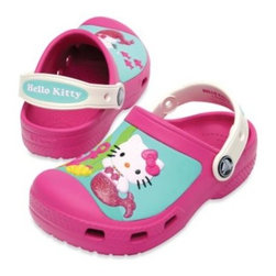 Crocs - Creative Crocs Hello Kitty Clog in Fuchsia/Oyster - With a custom Hello Kitty design and fully-molded Croslite material, these Crocs are stylish and comfortable. They feature non-marking Croslite material outsole and room for Jibbitz charms.